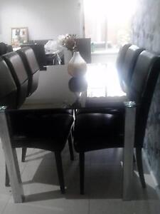 Dining table + 6 Chairs Hammondville Liverpool Area Preview