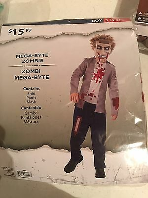 Halloween Costume Mega Byte Zombie Small 4-6 - Zombie Boy Halloween Costume