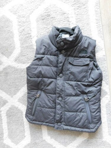 The North Face Boys Toddler 4T/4B  Black Jacket Puffy Vest snap closure