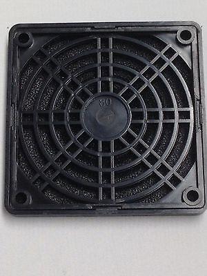 Fan Guard Plastic 80mm Dust Filter Cover black for 80mm fan 1pc