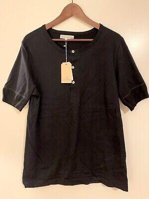 Merz b. Schwanen 100% Cotton Henley T-shirt. Made In Germany. NEW w/ tags.