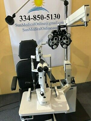 Reliance 5200 Chair 7750 Stand With Slit Lamp Tonometer Topcon Phoropter