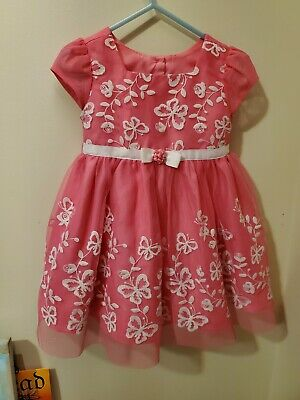 Infant Butterfly Dress (Jona Michelle Baby Girls Infant Toddler Butterfly Pink Dress new 2 yrs 24)