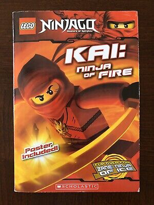 LEGO 2 books in 1 Ninjago KAI Ninja of Fire Zane (ice) Scholastic Paperback Book