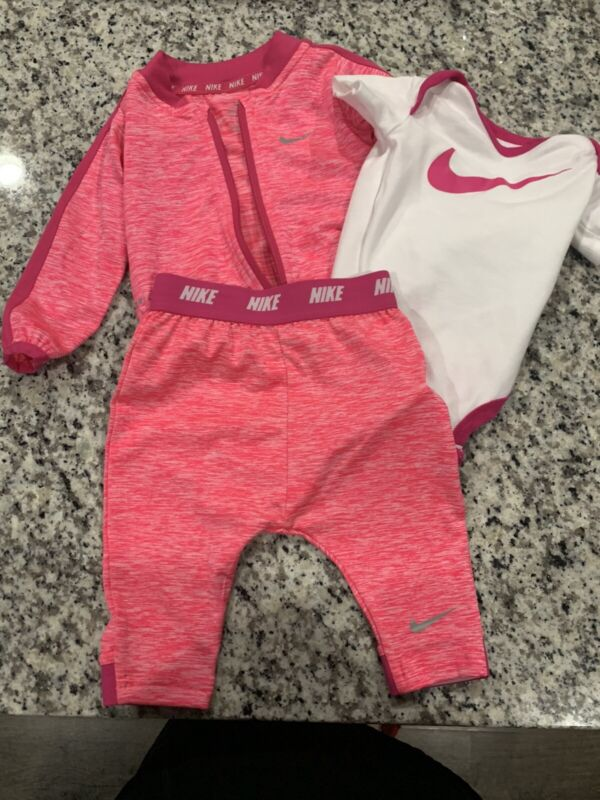 Nike Pink Dri-Fit Tracksuit Infant Girl 0-6M NWOT
