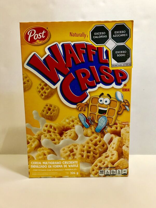 Post Waffle Crisp Cereal-Unopened Sealed Box March 2021 Used By Date