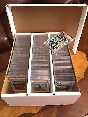 Graded Sports Card Storage Box - Heavy Duty Holds 195 Cards - No Cards -