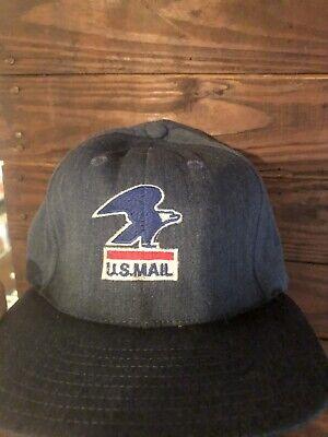 Vintage Denim US MAIL Patch Rare 80's Old Logo  Snapback Hat Medium