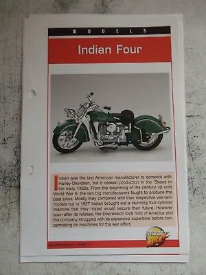 INDIAN FOUR collector file fact sheet.