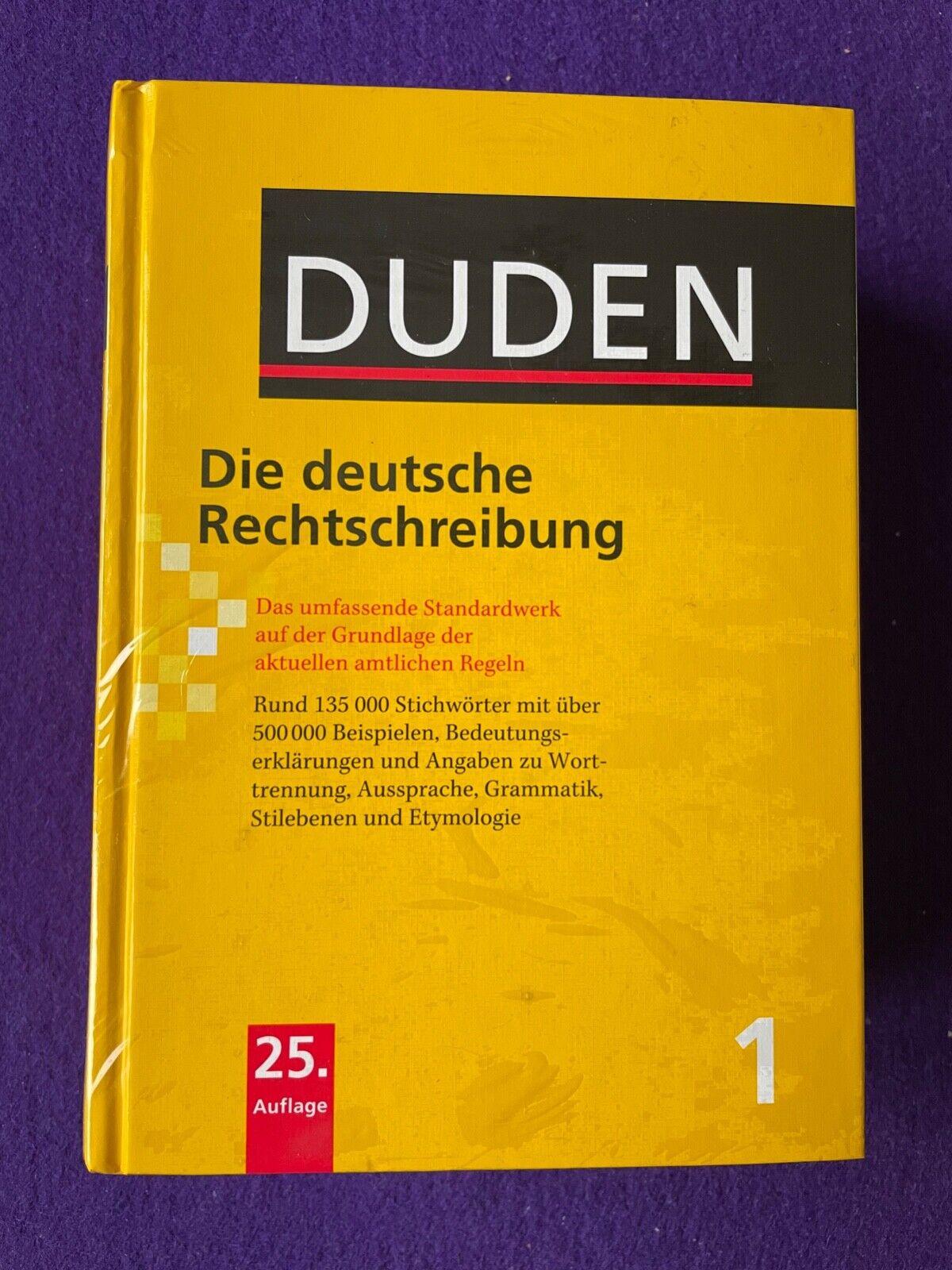 Duden die deutsche rechtschreibung 25. Auflage neu in Folie verpackt