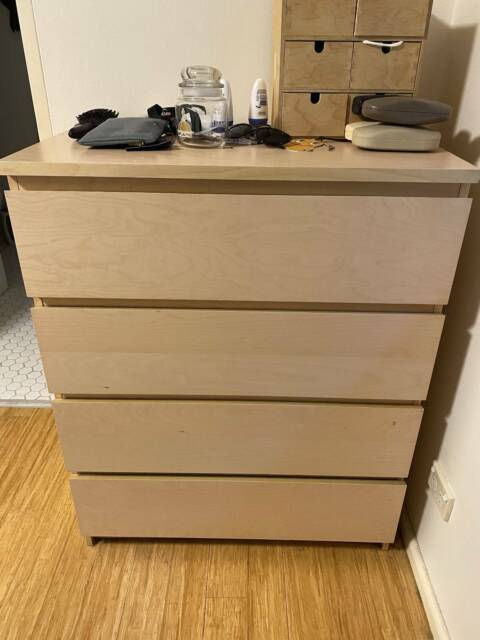 Ikea Malm 4 Drawer Dresser Birch