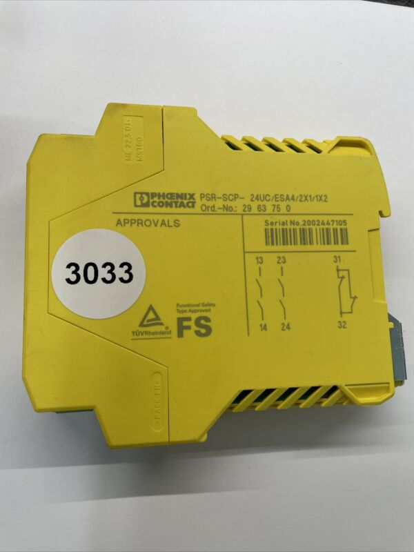 Phoenix Contact 2963750 PSR-SCP-24UC/ESA4/2X1/1X2 Safety Relay Module