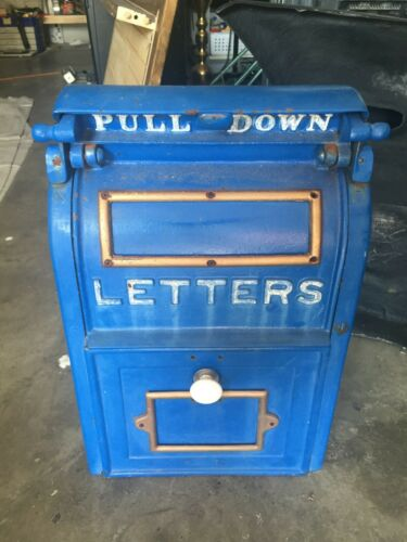 Antique large cast iron US Postal mailbox Wehrle Co. Newark Ohio. Excellent