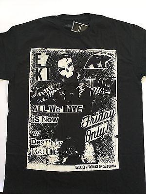 Ezekiel Men's Slim T-Shirt Black Front Print Short Sleeve Size L