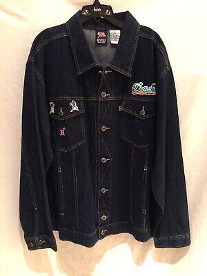 Miami Dolphins jacket w/Dan Marino/Bob Griese lapel pins-Classic Denim-XL ()