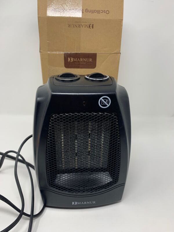 Marnur Oscillating Space Heater W/ 2 Heat Settings, Home Or Office Use