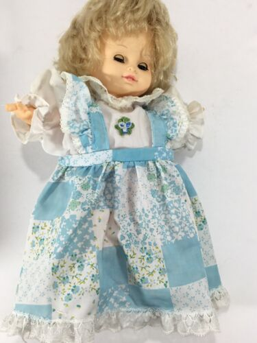 1989 Cititoy Vinyl Baby Doll. 10 Blonde Hair. Eyes Open And Close. - $9.20
