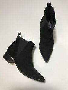 "EUC Acne Studios ""Jensen"" Pointed Toe Black Suede Ankle Boots Size 37"