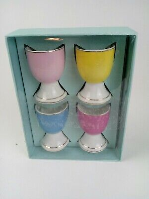 Porcelain Egg Cups Set Of 4 Opened For Display Purposes Preowned Porcelain Egg Cup Set