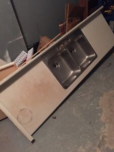 Free counter top (laminate) with stainless steel sink