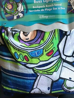 "New Disney Buzz Lightyear  Beach Towel backpack 30"" x 60"" Buzz Lightyear Towel"