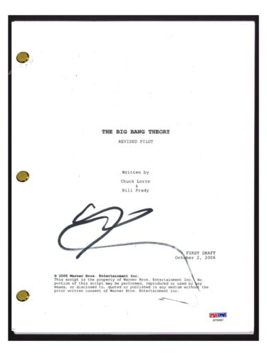 Johnny Galecki Signed Autographed THE BIG BANG THEORY Pilot Script PSA/DNA COA