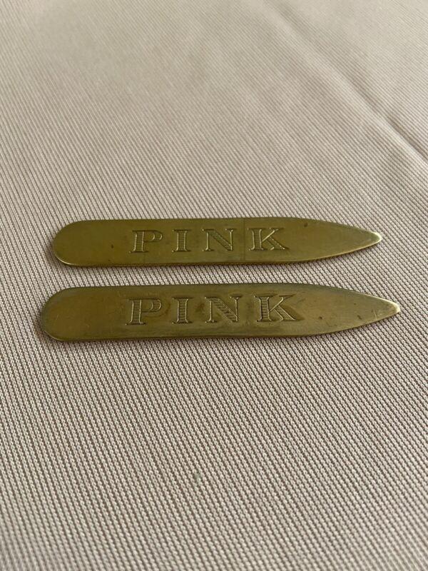 Thomas Pink Metal Collar Stays set of 2