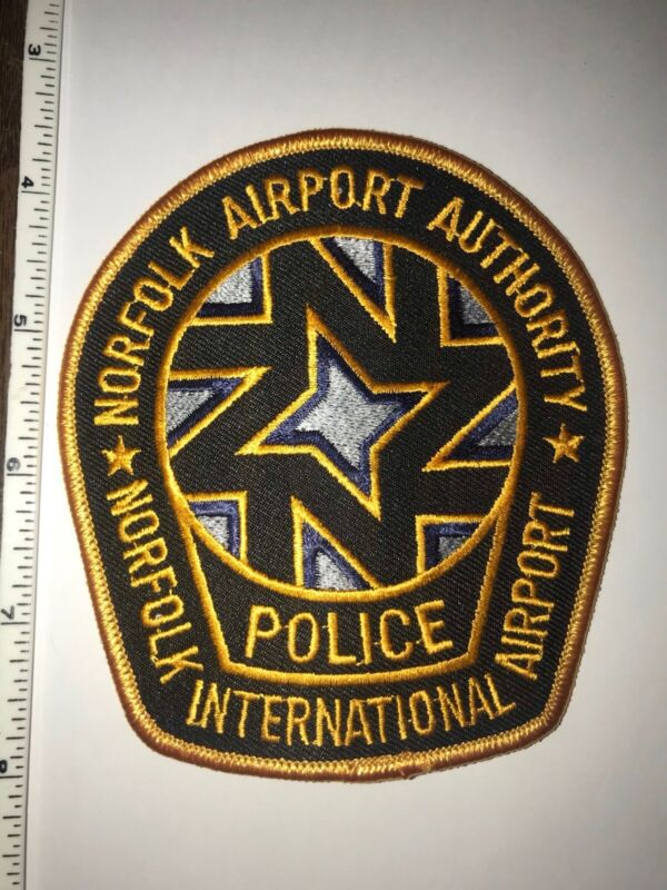 Norfolk Airport Authority Norfolk Virginia Intenational Airport Police Patch New