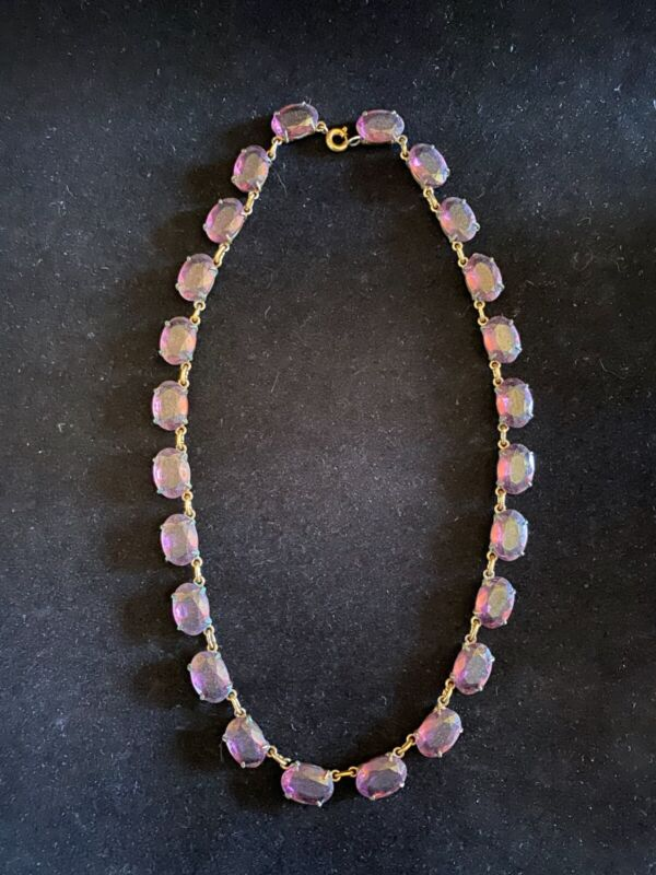 Victorian Amethyst Necklace (Gold-filled, w/ Victorian box included)