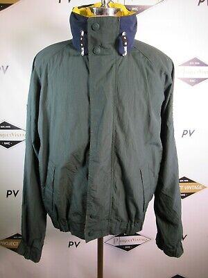 E7332 VTG Tommy Hilfiger 90's Sailing Jacket Sleeve Spellout Size L