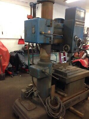 American 4 Radial Arm Drill 9 Col. With Base