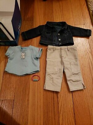 American Girl of Today Retired Coconut's Best Friend Outfit watch denim jacket