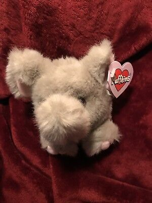 "PUFFKINS Elly Elephant With Tags 5"" SWIBCO PLUSH COLLECTIBLE"
