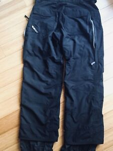 NEW BURTON MENS LARGE SNOWBOARD PANTS BLACK