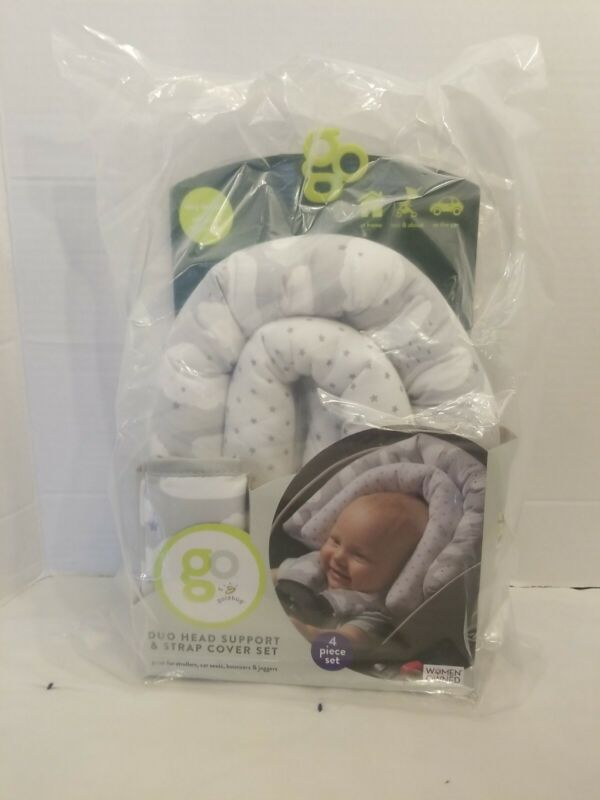 Go By Goldbug Duo Head Support And Strap Cover Set For Baby
