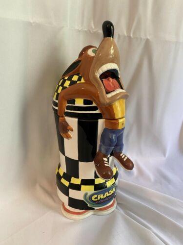 Crash Bandicoot 1999 Universal Interactive Studios Cookie Candy Jar RARE 13x5