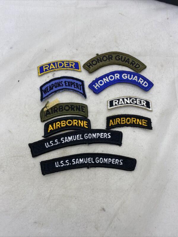 Lot Of 10 US Military Tabs Post Vietnam (VB1374