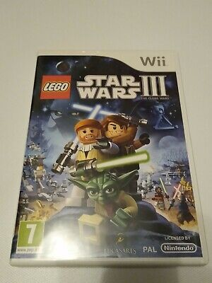 LEGO STAR WARS III 3 THE CLONE WARS NINTENDO Wii GAME + INSTRUCTIONS VG USED CON