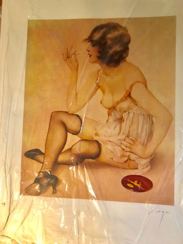 Antique Fine Art By Alberto Vargas Smoke Dreams Pin Up Lithograph
