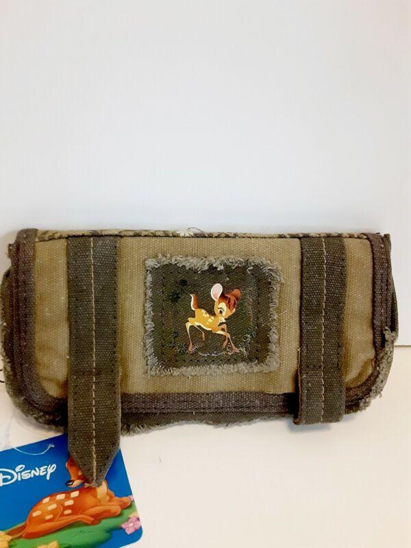 DISNEY BAMBI Wallet  BAG GREEN RETRO CANVAS BIRTHDAY GIFT Licensed NWT
