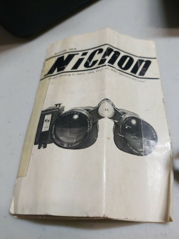 NICNON 7X50 Binocular w/ Ricoh Half Frame Motorized Camera IDF Israeli Military