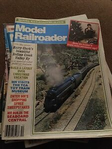 9 Model Railroader Magazines from 1985