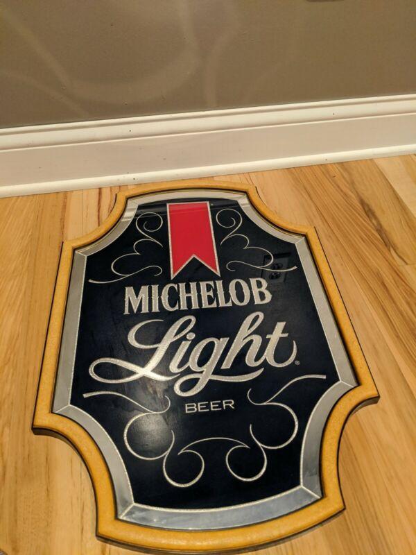 Vintage Michelob Light Beer Mirror Sign 18x27 Anheuser Busch Bar Advertisement