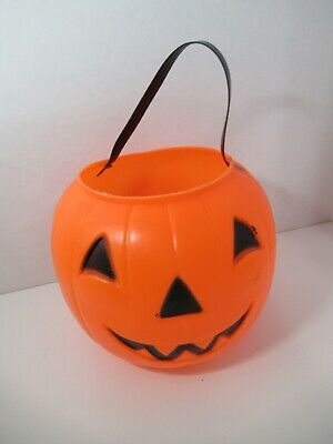 Empire Blow Mold Halloween Pumpkin Candy Trick Treat Bucket Pail vintage