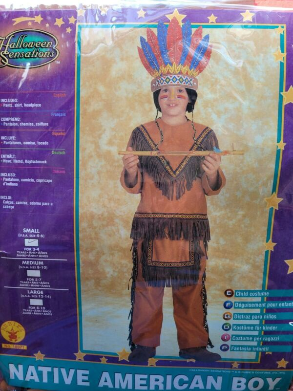 Rubies Native American Boy Size 3-4 Years