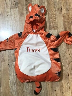 NWOT Disney Baby Tigger Costume Size 18-24 Months Comfortable W/ Hood