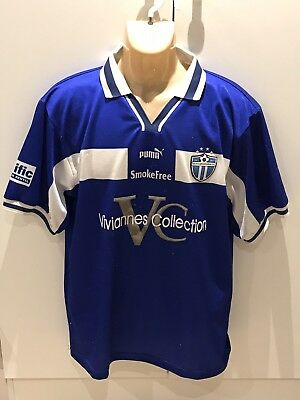 SOUTH MELBOURNE HELLAS FC RETRO RARE SHIRT NSL 1998/1999 CHAMPIONS CLARKSON SIGN image