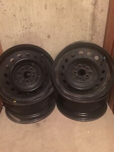 2005 Black Toyota Matrix Rims.