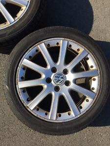 17x7 VW OEM Ronal Rims with Momo Outrun M3 tires