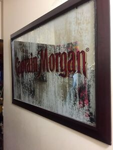 Captain Morgan frosted mirror